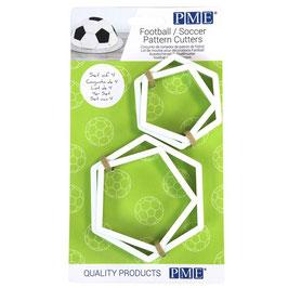 Kit de 4 découpes pentagonales pour ballon de foot