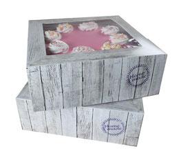 """2 boîtes  """"Home made"""" pour gâteau 26 cm"""