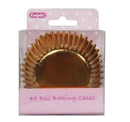 Caissettes métallisées or pour cupcakes