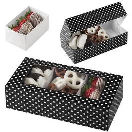 3 boîtes noires/blanches à compartiments amovibles