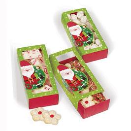 Lot de 3 boîtes rectangulaires coulissantes Noël
