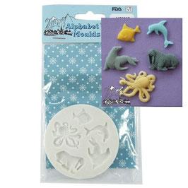 Moule animaux de la mer 5 formes