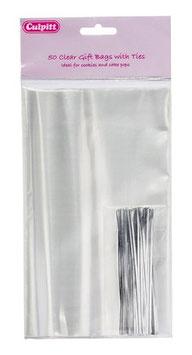 50 sachets 12x20 cm avec liens