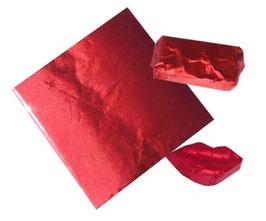 Feuilles d'emballage rouge 8x8 cm