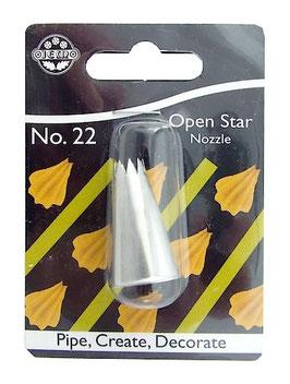 Douille embout étoile ouverte 7 mm n°22