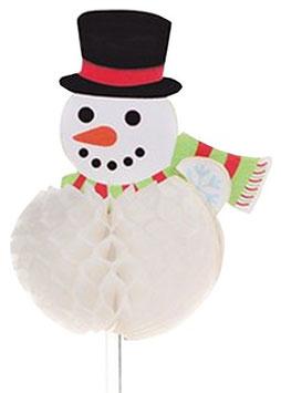 Bonhomme de neige alvéolé sur pique