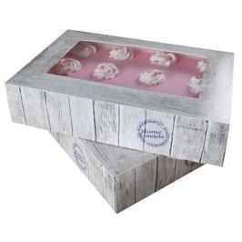 """2 boîtes""""Home Made"""" pour gâteau 36x25 cm"""