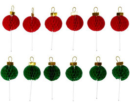 Boules de Noël alvéolées sur pique