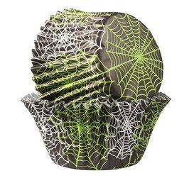 Caissettes toiles d'araignées.