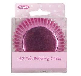 Caissettes métallisées roses pour cupcakes