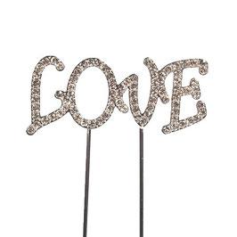 """""""LOVE"""" en strass sur piques"""