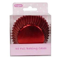 Caissettes métallisées rouges pour cupcakes
