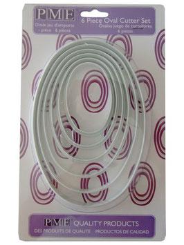 Kit 6 découpoirs de forme ovale