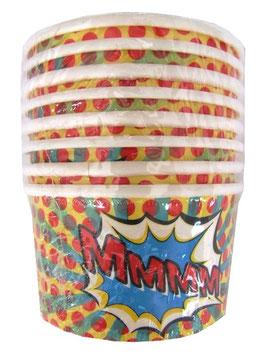 8 pots décorés pop-art