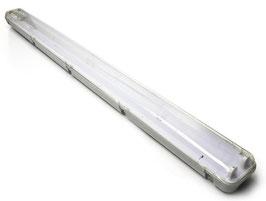 Plafoniera 150cm Stagna per 2 Tubi Led da 150cm  Per esterno e Interno IP65  FN00610