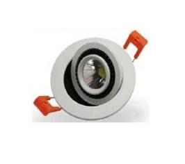 Faretto LED 3W Incasso foro Ø55mm - COB - Orientabile