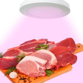 Plafoniera Rosa per Banco Carni LED da 18W - da Macelleria e Alimentari - Rotondo- per interni