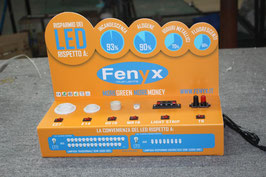 Espositore e Cassetta Test per illuminazione LED  Attacchi: E27- E14 - Tubi - MR16 - GU 5.3 - GU10 - Strisce   FN00339