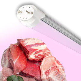 90cm Tubo Led Rosa per Banco Carne e Alimentare T8 da 15W