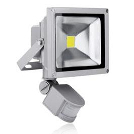 Faro Slim Led 30W Con Sensore Movimento e Crepuscolare - Bianco Freddo - Linea Premium FN00476