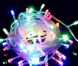 Catena di Natale LED Multicolore IP65 con 100leds da 10metri Per interno  FN00371
