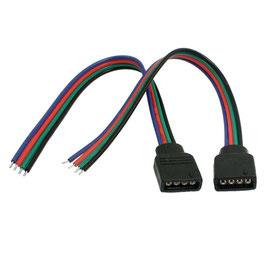 Connettore RGB Femmina 4PIN con 15cm Cavo 12V e 24V DC - Confez. da 4 pezzi  FN00238