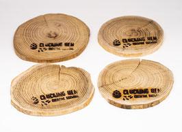 4 Holz-Untersetzer