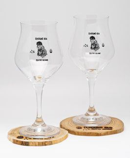 CRAFT BEER GLAS - 2 Stück mit Clucking Hen Logo