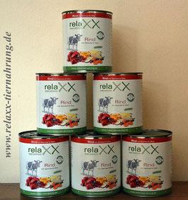 Relaxx Rind mit Gemüse&Obst 800gr. Singleprotein