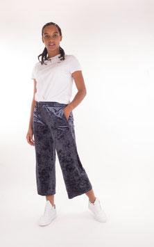Pop Copenhagen, Plush Velvet Pants, Blue Steel