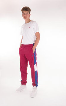Champion, Reverse Weave Elastic Cuff Track Pants, Red Blue White