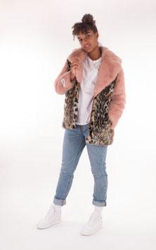 Jakke, Sarah Jacket, Pink Leopard