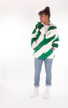 Jakke, Heather Jacket, Green White Stripe