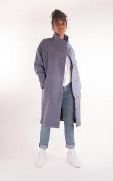 Pop Copenhagen, Oversized Wool Coat, Blue