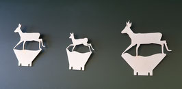 Klappziel Paket: Sprung Rehwild/ Pop up package: Roe deer family