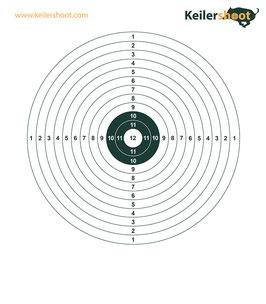 50x Zielscheibe einfach