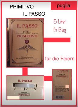 Primitivo , Il Passo, 5 l.Bag, 13 - 14 %vol