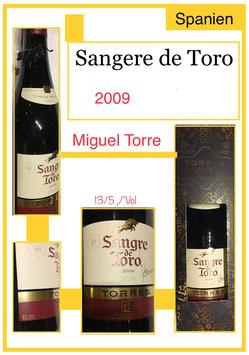 Sangere de Toro 2009 Miguel Torre in Geschenkverpackung