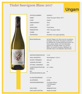 Sauvignon Blanc -Tüzko  Birtok mit Antinori 2018 Weißwein trocken-Ungarn