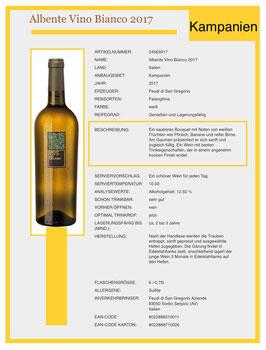 Albente Vino Bianco, 2015