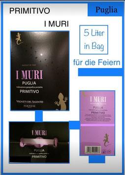 Primitivo, I Muri, 5 Liter in Bag, 13-14%vol