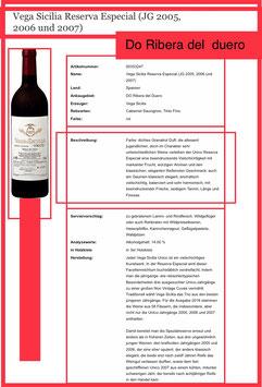 Vega Sicilia Unico Reserva Especial, 2005, 2006, 2007, 0,75l. Fl. in 3er Hozkiste