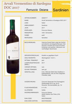 Arvali Vermintino di Sardegna DOC 2018*  -  6 er Pack