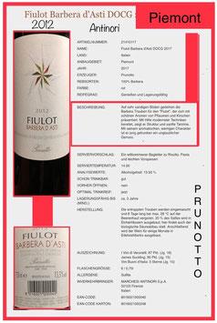 Fiulot, Barbera d'Asti, DOCG  2012, Prunotto Piemont
