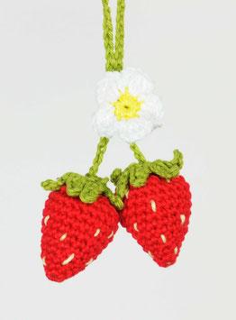 Erdbeer Glücksanhänger