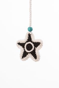 Stern Glücksanhänger Schwarzweiß