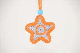 Stern Glücksanhänger Orangegrau