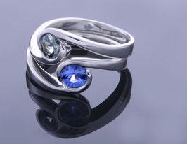 Safir-Ringe in Platin