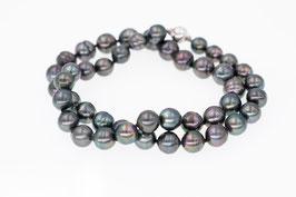 Tahiti-Perlkette mit Silber-Magnet-Verschluss