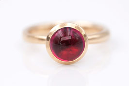 Rubellit-Ring aus Roségold (roter Turmalin) Classic-Collection
